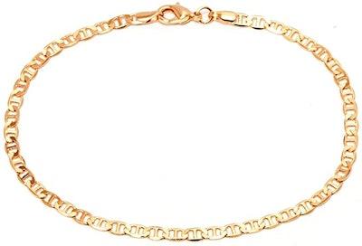 Barzel 18K Gold Plated Marina Link Anklet