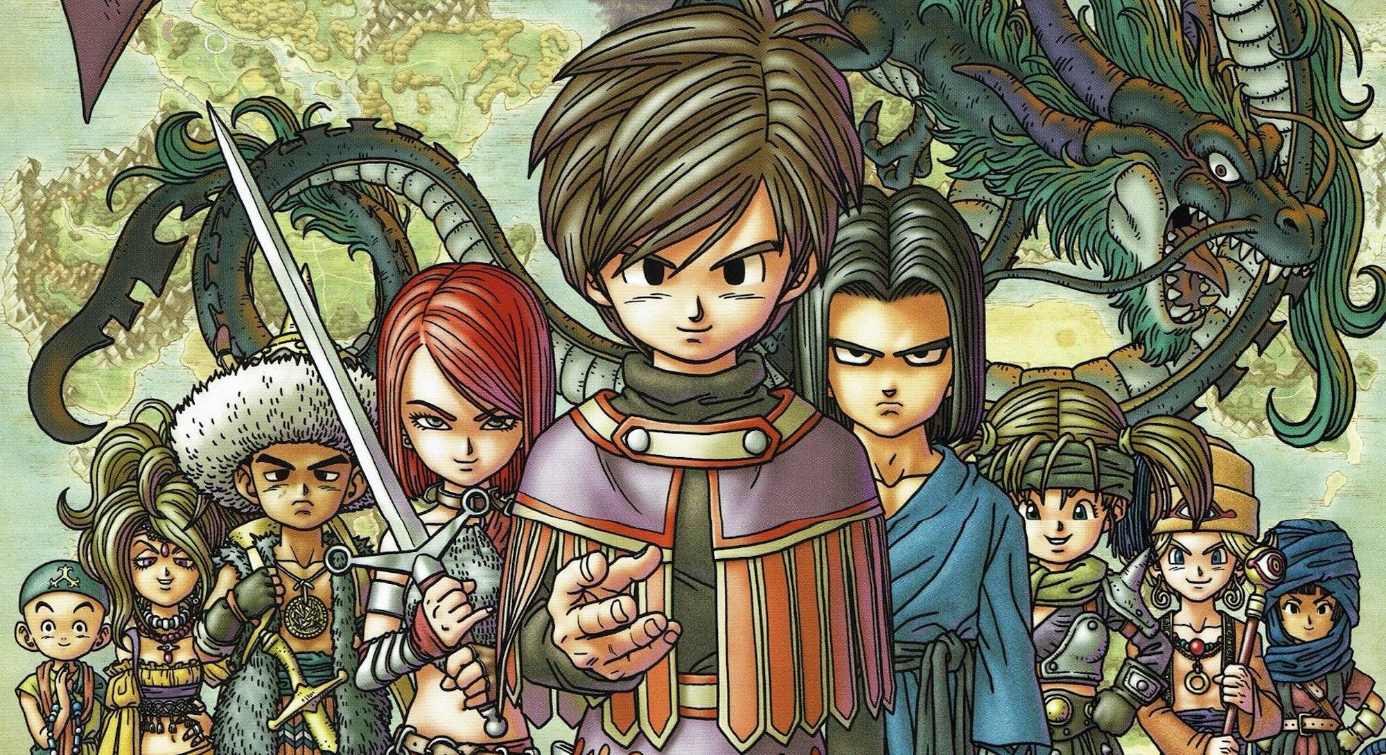 dragon quest 9 character art
