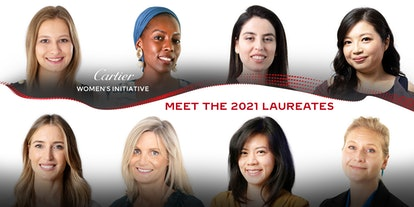 The eight laureates of the 2021  Cartier Women's Initiative.