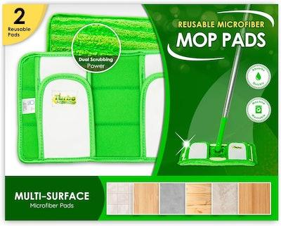 Turbo Microfiber Reusable Mop Pads (2-Pack)