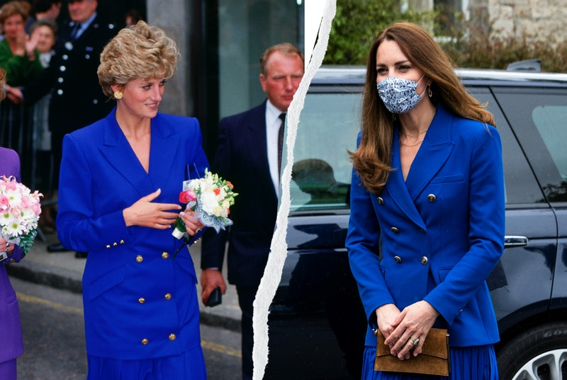 Here's every time Kate Middleton channeled Princess Diana with her style.
