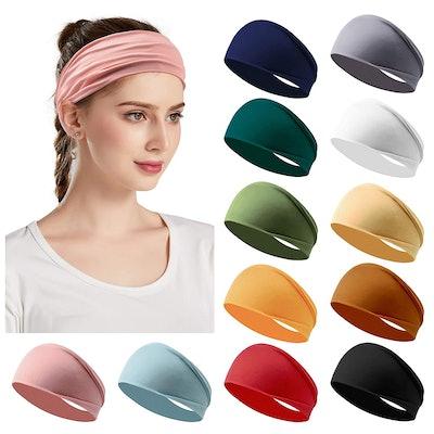 Jesries Non-Slip Headbands (12 Pack)