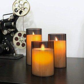 Aignis Battery-Powered Flameless Candles (Set of 3)