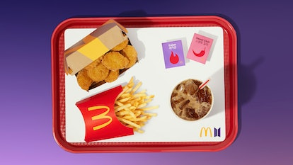 McDonald's BTS meal pairs Chicken McNuggets with two spicy and sweet sauces.