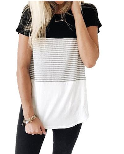 YunJey Triple Color T-Shirt