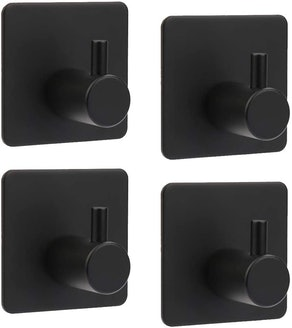 ShineMe Stainless Steel Adhesive Hooks (4 Pack)
