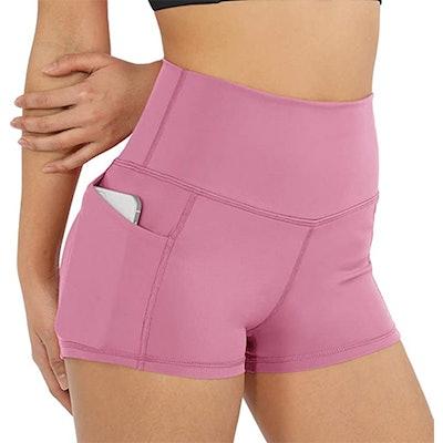 ODODOS High Waist Bike Shorts With Pockets (2.5-Inch)
