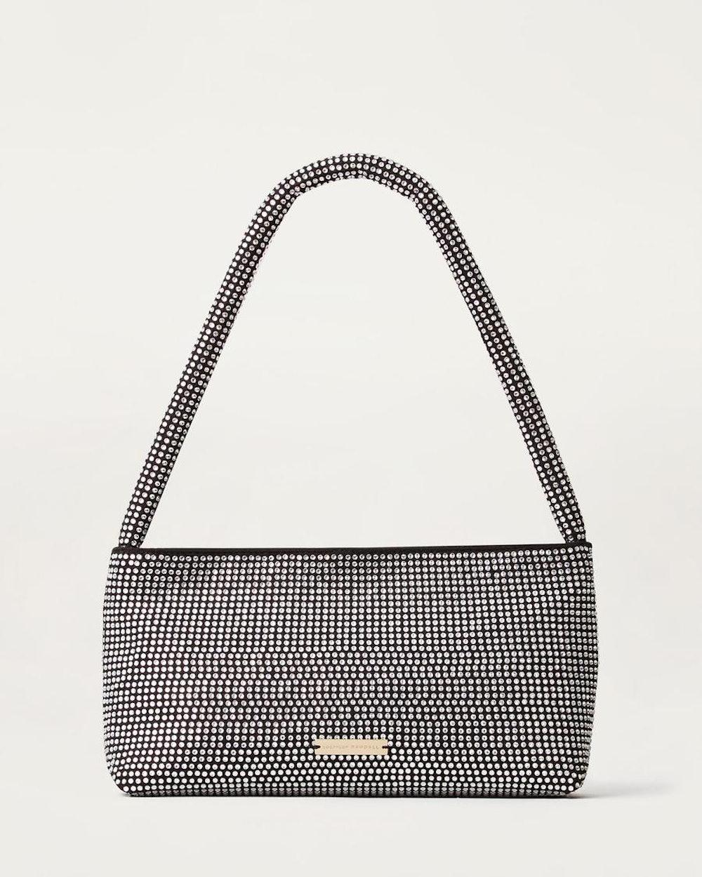 Marleigh Beaded Baguette Bag Diamante