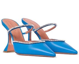 Gilda embellished leather mules