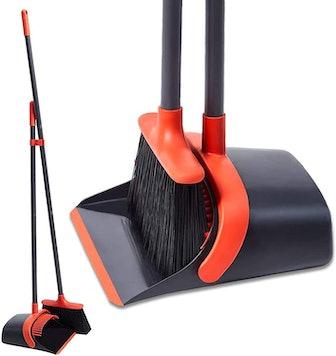 YANXUS Standing Dustpan Broom Set
