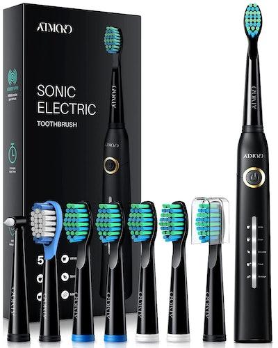 ATMOKO Electric Toothbrush with 8 Brush Heads