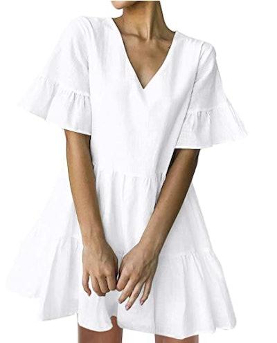 FANCYINN Ruffle Shift Dress