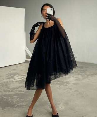 Embroidered Organza Transformable Skirt