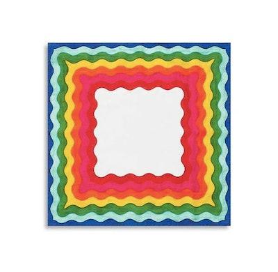 Summerill & Bishop Rainbow Printed Linen Napkin