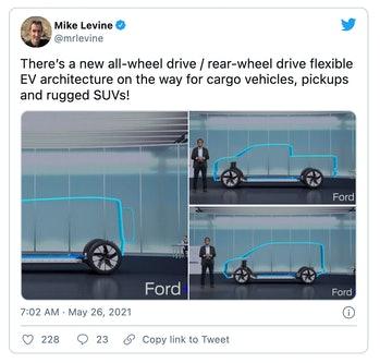 Ford has teased a lineup of vehicles based on its new electric vehicle platform.