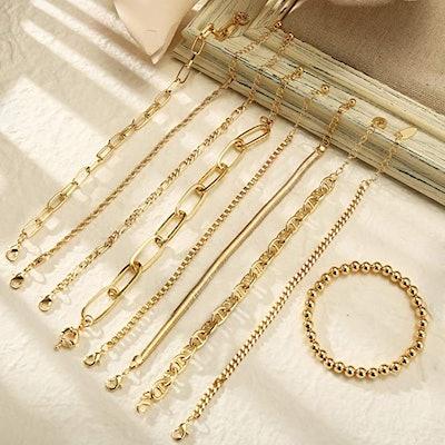 ÌF ME Adjustable Chain Bracelets (9-Piece)