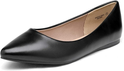 DREAM PAIRS Women's Pointed Toe Ballet Flats