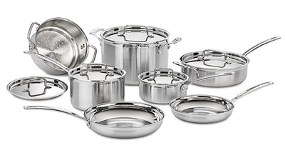 Cuisinart Multiclad Pro Stainless Steel Cookware Set (12 Pieces)