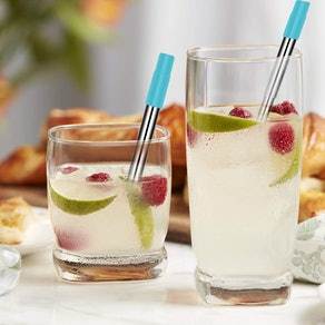 Gubay Reusable Collapsible Straws (2-Pack)