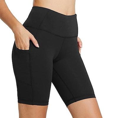 BALEAF High Waist Biker Shorts With Pockets