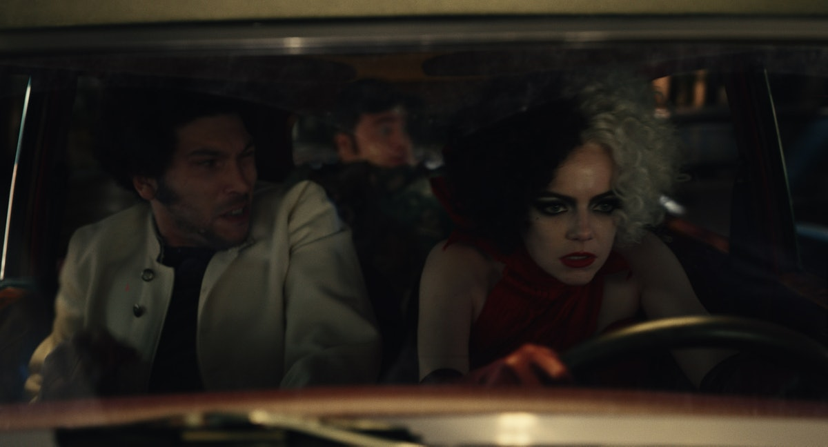 Emma Stone stars as the titular anti-heroine of 'Cruella,' while Joel Fry and Paul Walter Hauser play her friends-turned-minions, Jasper and Horace.