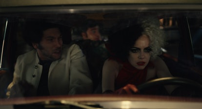 Emma Stone stars as the titular anti-heroine of 'Cruella,' while Joel Fry and Paul Walter Hauser pla...