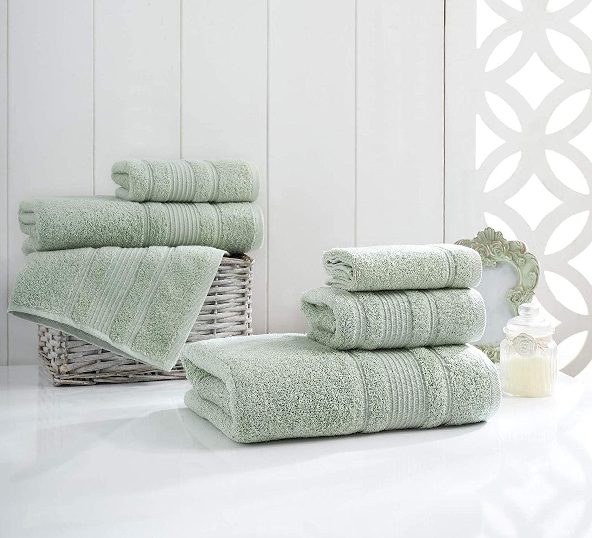 Qute Home Turkish Cotton Towels, 4-Piece Set