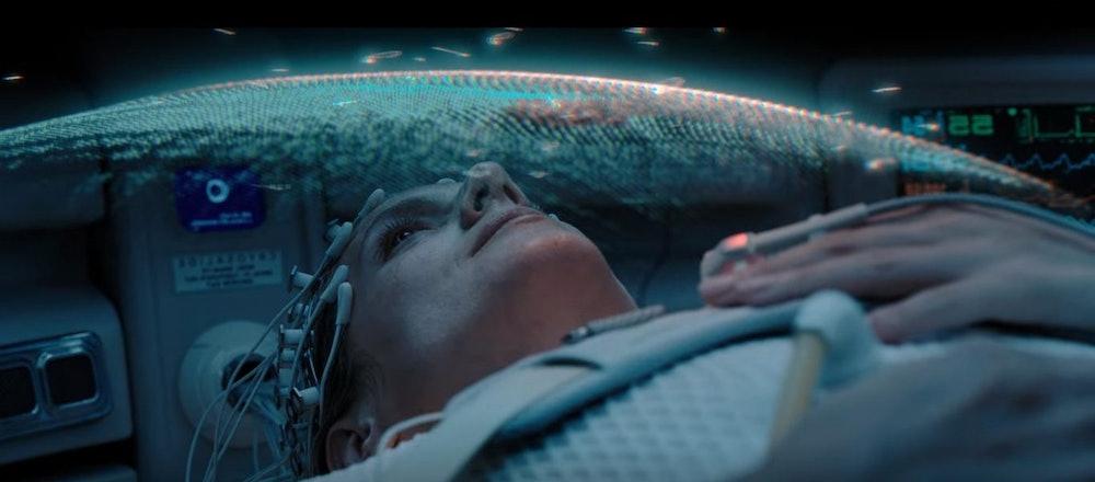 Woman in cryogenic pod