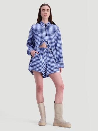 Musan Shorts Blue Check