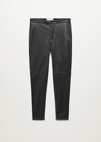 Slim Fit Faux Leather Pants