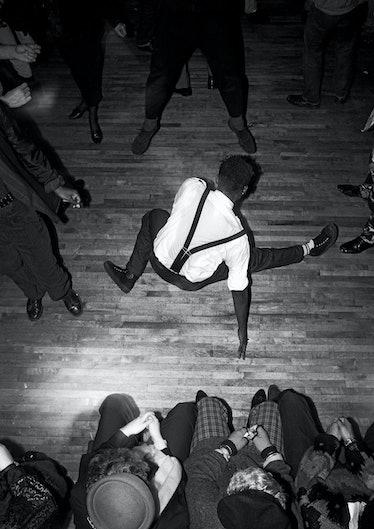 Breakdancing at Legends, London, 1986.