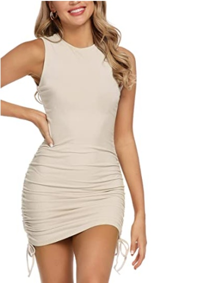 MYHEAT MH Drawstring Bodycon Mini Dress