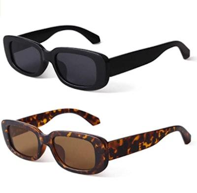 BUTABY Retro Sunglasses (2-Pack)