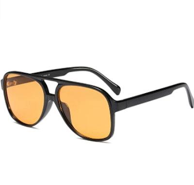 Freckles Mark Vintage Aviator Sunglasses