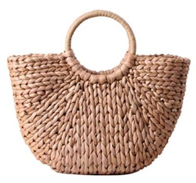 EROUGE Straw Handbag