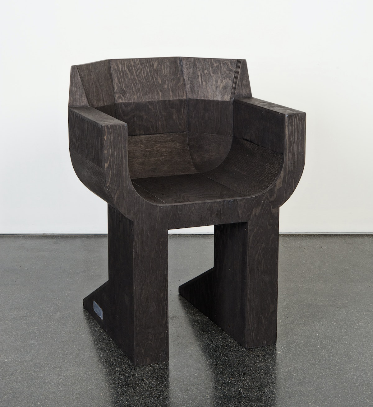 A chair designed by Michèle Lamy and Rick Owens