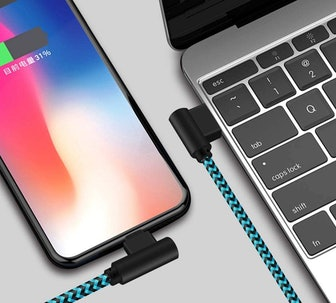 ANSEIP Right-Angle iPhone Charging Cables (3-Pack)