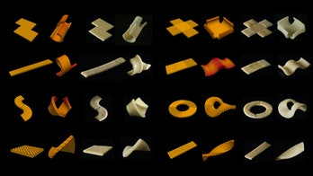 flat-packed pasta shapes chart