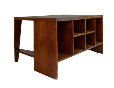 Pierre Jeanneret Authentic Office Desk from Chandigarh with Signes