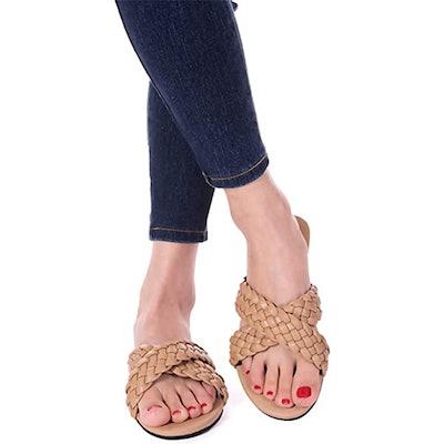 Mtzyoa Embellished Flat Sandals