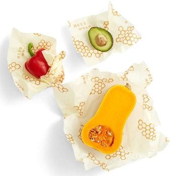 Bee's Wrap Reusable Beeswax Food Wraps (Set of 3)