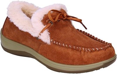 Orthofeet Leather Moccasins