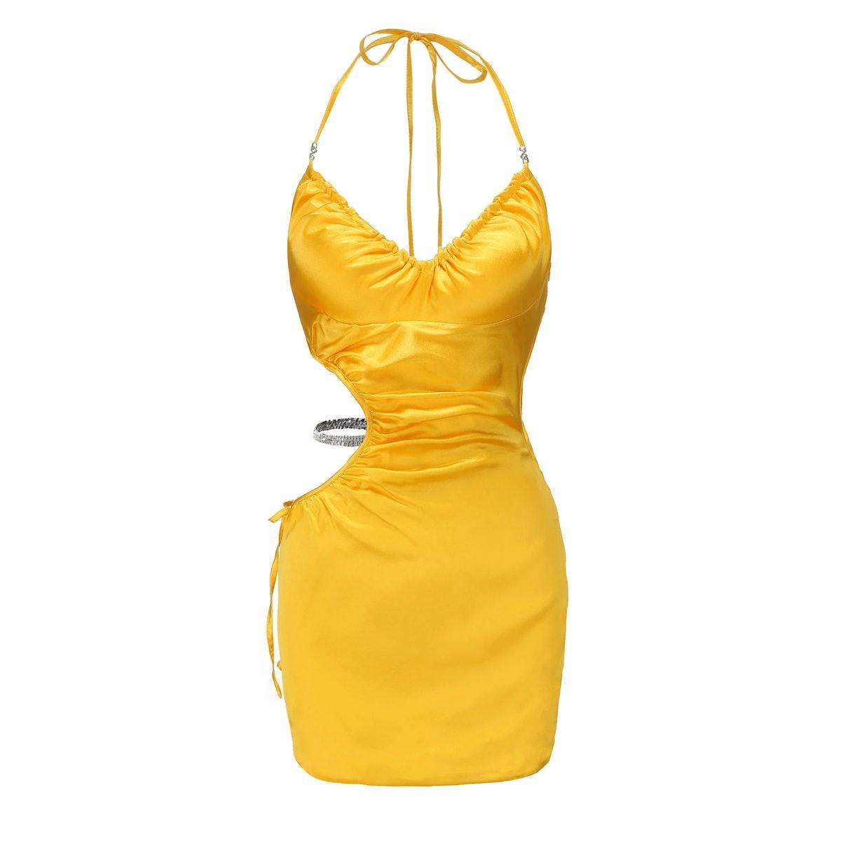 Yellow June Halter Dress
