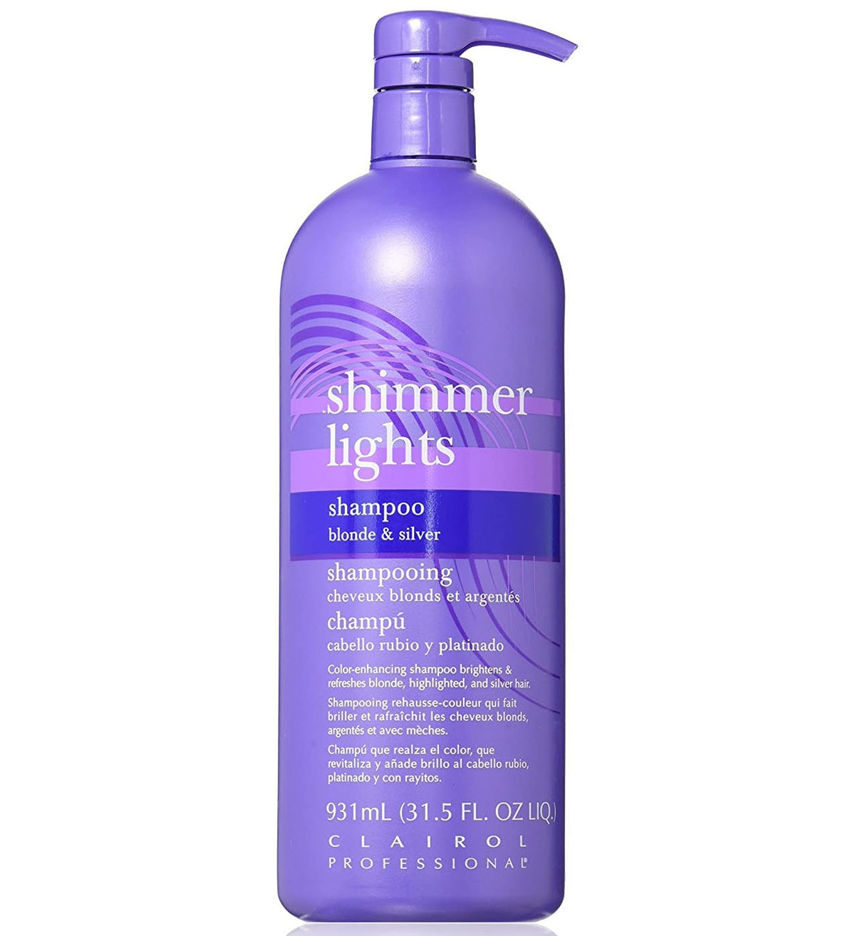 Clairol Shimmer Lights Shampoo for Blonde and Silver Hair