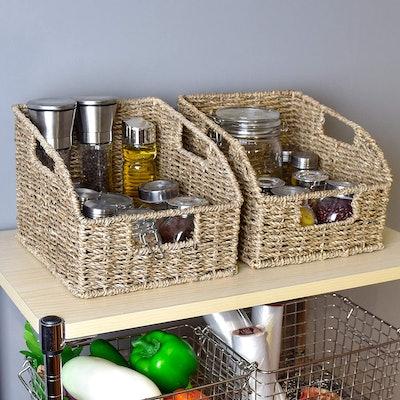StorageWorks Seagrass Wicker Baskets
