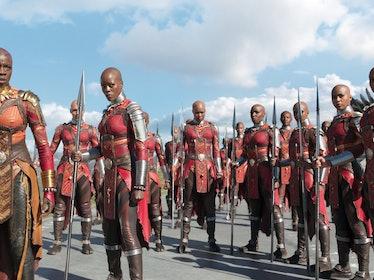 The Dora Milaje in Wakanda in 'Black Panther'