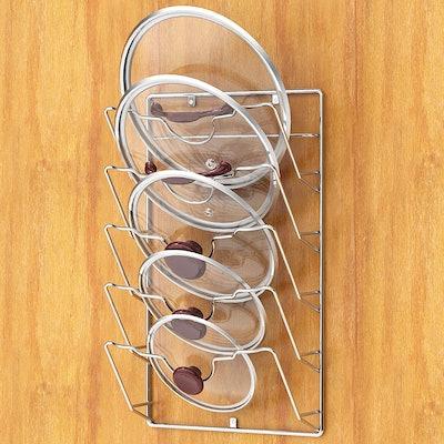 Simple Houseware Wall Door Mounted Pot Lid Rack