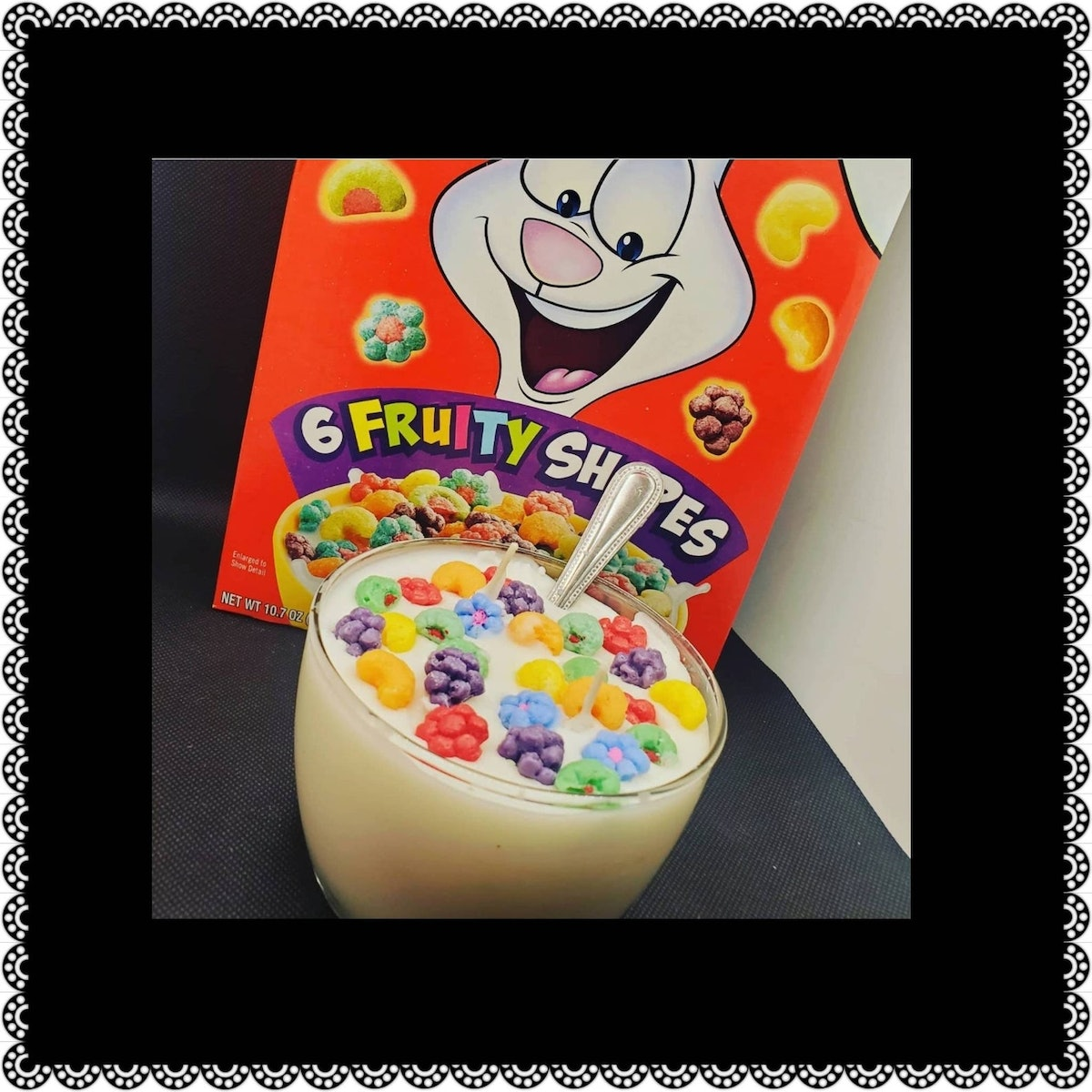 TRIX Cereal Bowl Candle