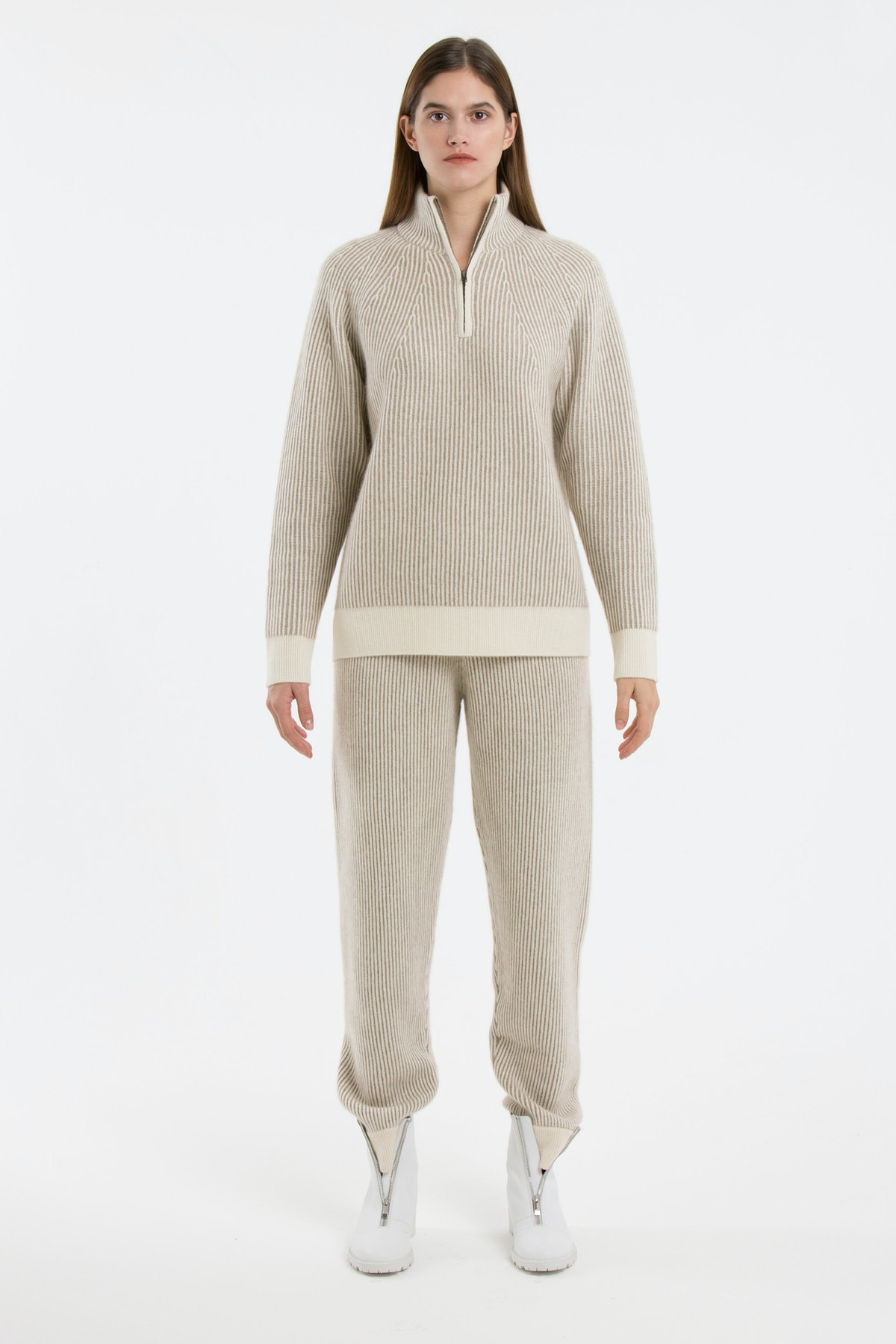 Plated Jumper With Partial Zip