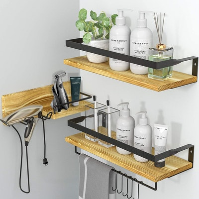 LYNNC 3-in-1 Rustic Floating Shelves